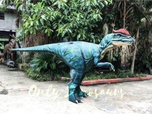 Hidden Legs Dinosaur Costume Blue Dilophosaurus