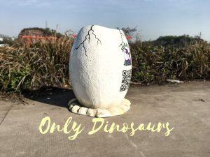 Jurassic World Fiberglass Statues Eggshell