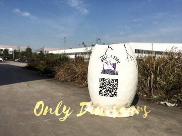 Jurassic World Fiberglass Statues Eggshell3