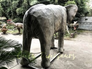 Juvenile Animatronic Elephant Realistic Model