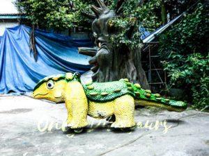 Kiddie Rideable Dinosaurs Ankylosaur in Dinosaur Park