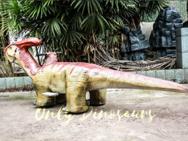 Lifelike Dinosaur Rides Parasaurolophus for Playground2