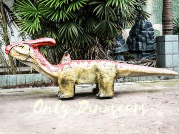 Lifelike Dinosaur Rides Parasaurolophus for Playground4