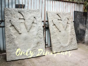 Lifesize Tyrannosaurus Dinosaur Footprint Fossil for sale