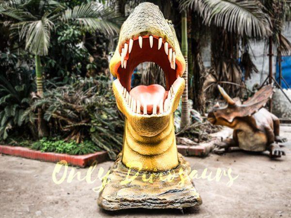 Outdoor Fiberglass Statues T Rex Head3
