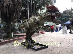 Park Atrraction Animatronic Dinosaurs Dilophosaurus