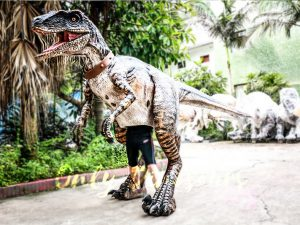 Realistic Animatronic Dinosaur Costume of Raptor