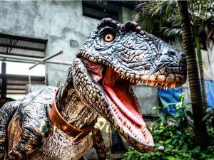 Realistic Animatronic Dinosaur Costume of Raptor