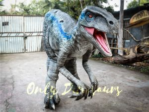 Realistic Raptor Halloween Costumes Jurassice Blue