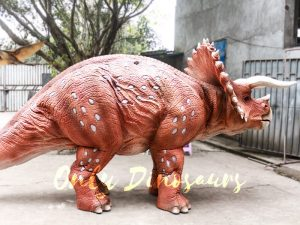 Red Triceratops 2 Person Costumes for School
