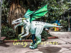 Special White Dragon Costume for Rent Business