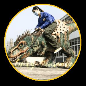 Stilts dinosaur costume thumbnail