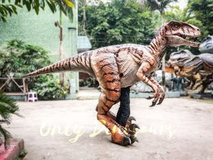 Walking Dinosaurs Raptor Costume Visible Legs