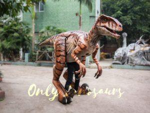 Walking Dinosaurs Raptor Costume Visible Legs