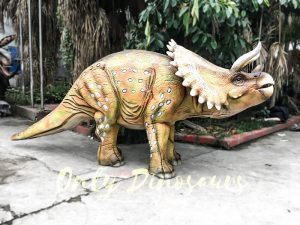 Yellow Triceratops Realistic Dinosaurs Actor Costume