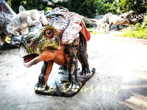 Amusement Park Ride On Triceratops Dinosaur Facility