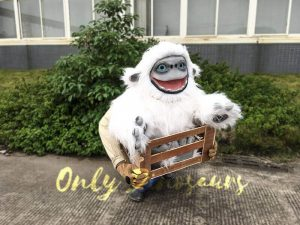 Baby Yeti Puppet in Crate