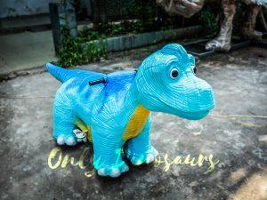 Blue Brachiosaurus Dinosaur Running Ride