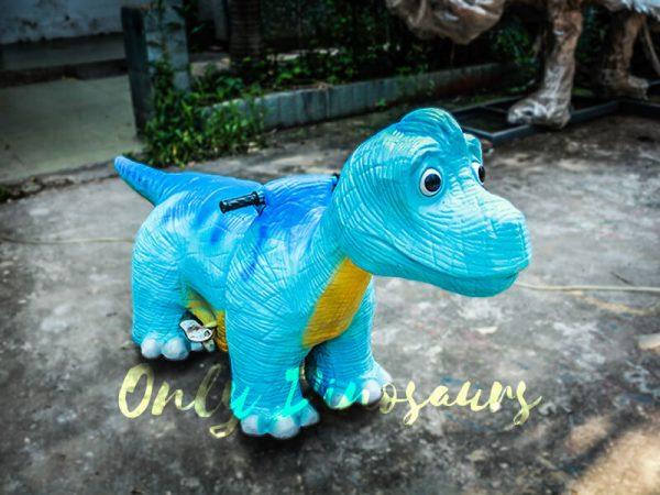 Blue Brachiosaurus Dinosaur Running Ride 1