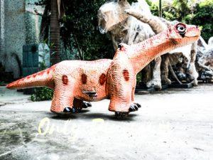 Cute Brontosaurus Dino Rider for Playground
