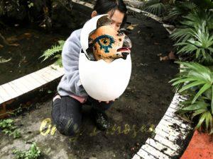 Cute Gift Dinosaur Puppet in Eggshell