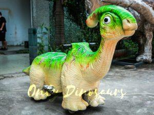 Green Parasaurolophus Cute Dinosaur Rides