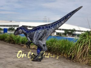 Jurassic Park Velociraptor Costume Lifelike Blue