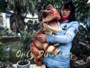 Likable Baby Dinosaur Brachiosaurus Puppet Red