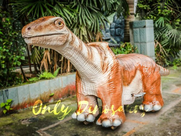 Orange Brontosaurus Dinosaur Kiddie Ride2