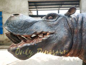 Realistic Animatronic Hippo for Museum