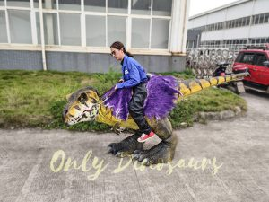 Realistic Child Dinosaur Ride-On Costume