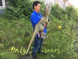Realistic Dinosaur Puppet Cowboy Raptor baby