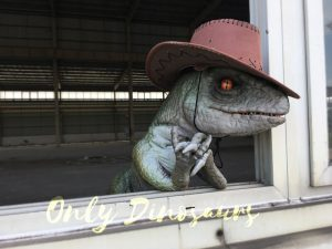 Realistic Dinosaur Puppet Cowboy Raptor baby
