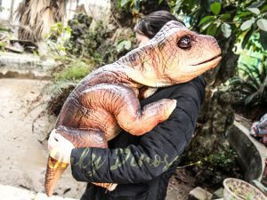 Realistic Puppets Dinosaur Puppet of Baby Brachiosaurus