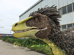Realistic Velociraptor Costume with Feathers