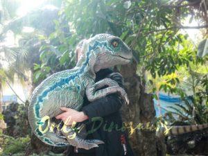 Velociraptor Baby Hand Puppet Lifelike Puppet