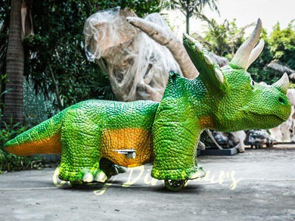 Vivid Green Triceratops Dinosaur Scooter4