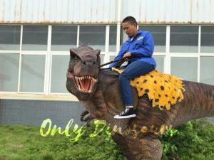 T-Rex Riding Dinosaur Costume on Stilts