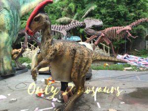 Impressive Walking Parasaurolophus Costume
