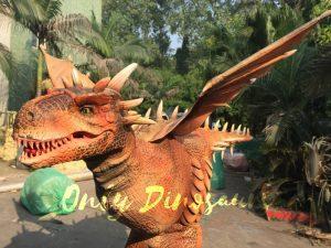 Vivid Halloween Walking Dragon Costume