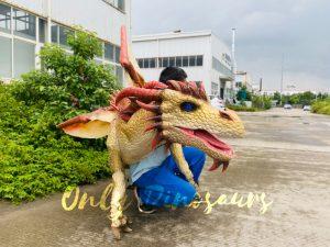 Kingly Golden Dragon Full Body Puppet