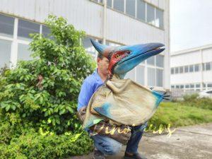 Lifelike Blue Handheld Baby Pterosaur