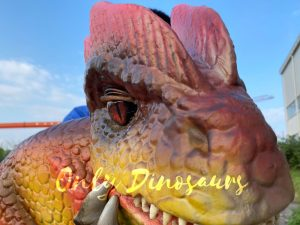 Fascinating Dilophosaurus Dino Puppet for Woman