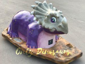 Amusement Park Purple Styracosaurus Dinosaur Kids Car