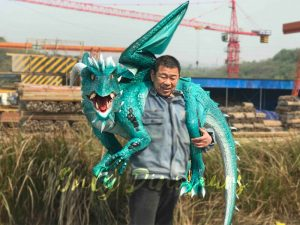 Realistic Shoulder Blue Flying Dragon Puppet