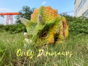 Cute Red Dot Triceratops Baby Puppet