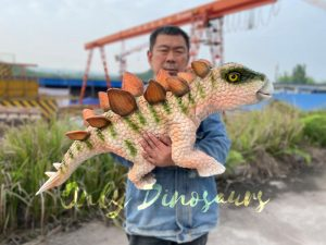 Adorable Baby Stegosaurus Dino Hand Puppet