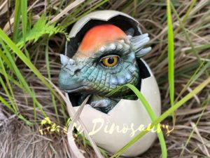 Attractive Pachycephalosaurus in Hatching Egg Hand Puppet