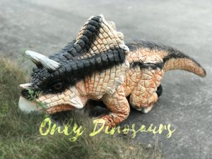 Cute Baby Size Triceratops Dinosaur Puppet