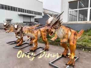 Four Electric Dinosaur Stygimoloch for Jurassic Park